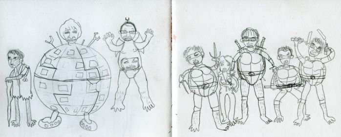 Krang And Friends by alexlan