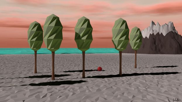 Low Poly Beach Scene by lolofson