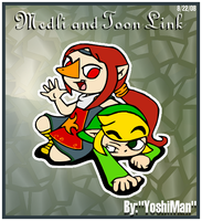 Medli and Toon Link by YoshiMan1118