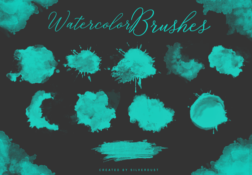 Watercolor Brushes | by  SilverDust by Marevasart