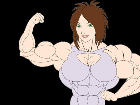 Animation - Angie's bicep flex by LordKelvin