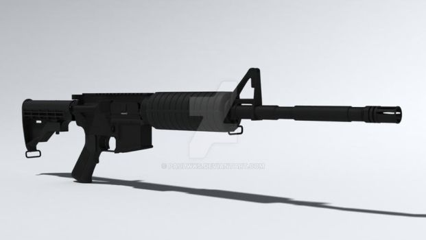 AR-15 wip front-side view by paulwks