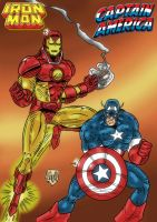 Iron Man and Captain America by violencejack666