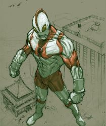 Ultraman sketch by scabrouspencil