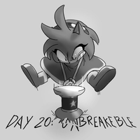 Inktober Day 20: Breakable by Lallelol