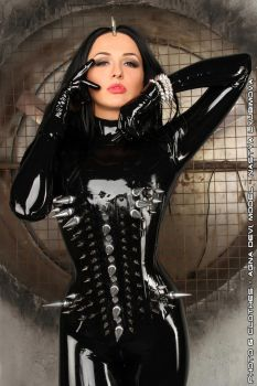 Black Rubber and Steel Spikes by agnadeviphotographer