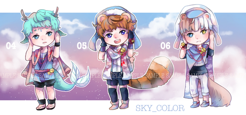 [OPEN ll SETPRICE] Adopt. : SKY_COLOR no.4-6 {2/3} by IceRin000