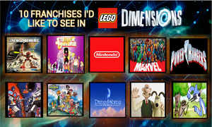 10 franchises i want to see in Lego Dimensions by SSJSquidward