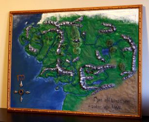 Map of Middle Earth by El-Sharra