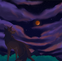 Blood Moon by Rolfwolf