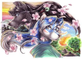 The Scent of Cherry Blossoms by wielderofthewind
