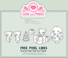 Pixel - Surprise Party OutLine Pack by firstfear