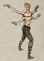 Tomin Four-Arms colour by LaughtonMcCry