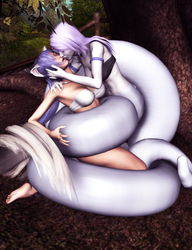 Commission: Asphyxia captures Akiko by thesteedman