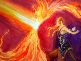 Force of Will painting tempera experiment by STsung