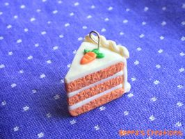 Carrot Cake Charm by BeppasCreations