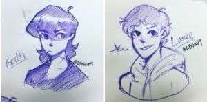 Keith and Lance Doodle  by Ailizerbee08