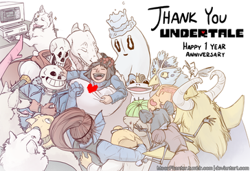 With you I am okay (Undertale 1 year Anniversary) by MoonPhanter