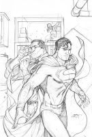 Superman Unchained 2 Modern Age Cover Pencils by TerryDodson