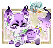 (Closed) Lavender SoulFox Adoptable Auction! by SetSaiI