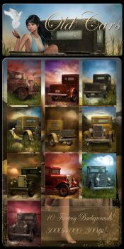 Old Cars backgrounds by moonchild-lj-stock