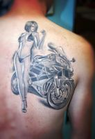 Biker Lady by gettattoo