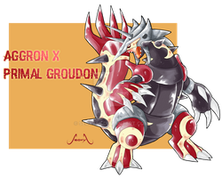 Aggron X Primal Groudon by Seoxys6