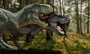 Black tooth vs V rex by TheSpiderAdventurer