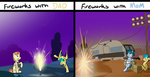Fireworks with Apogee by OinkTweetStudios