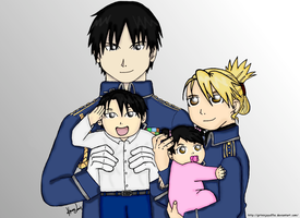 Riza and Roy Mustang Family by GrtNinjaYuffie
