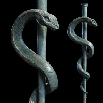 Medical symbol - The staff of Asclepius by doubleagent2005