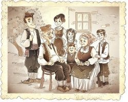 Old Traditional Serbian Family by MarinaVeselinovic