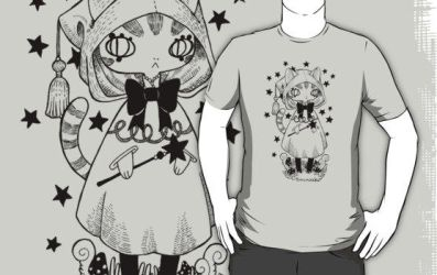 Magikat T-Shirt by spiderliing666