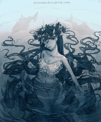 Swamp girl. Blue version by ShionMion
