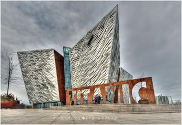 Belfast's spiked diamond - the Titanic memorial by Nachtfokus