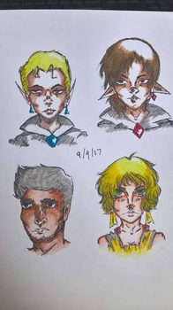 character portraits by SlynineTails