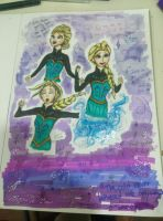 Elsa Ice Queen 'Let It Go' Transformation collage by Centerfudgee