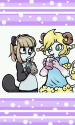 Bubble tea collab by puppetstringz