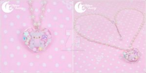 Jelly jewel bear Necklace 2 by CuteMoonbunny