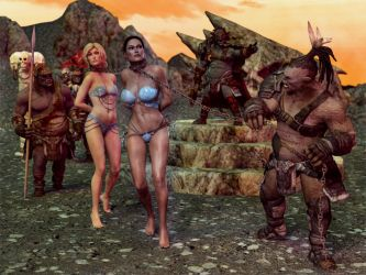 Slaves of the Orcs King by carmag34