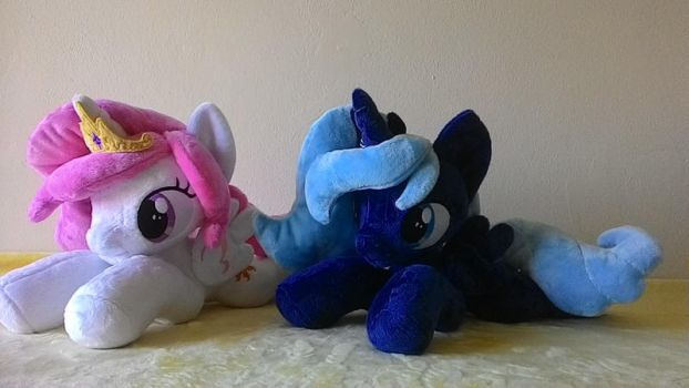 MLP plush- Celestia and Luna filly for sale. by Masha05