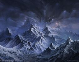 Angmar  mountains by DinoDrawing