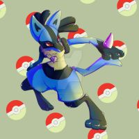 LucariO by UNWanTED-ArT