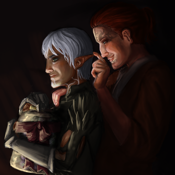 Quinntus and Fenris by rsek