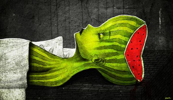 dead watermelon by berkozturk