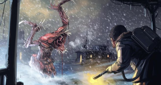 The Thing illustration by TheRealArtanas
