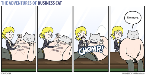 The Adventures of Business Cat - Heavy Petting by tomfonder
