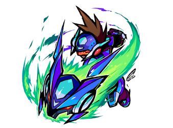 Draw MegaMan Day 2018 - Art1 : MM Starforce by Tomycase