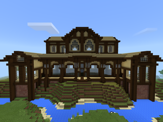 Wood mansion by SpookWriter