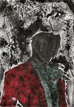 Edgeworth Collagraph Print by kaolincash